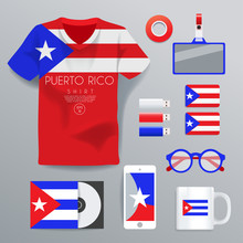 Puerto Rico : National Corporate Products : Vector Illustration