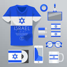 Israel : National Corporate Products : Vector Illustration