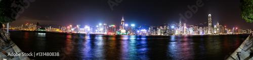 Zdjęcie XXL Hongkong, panorama panoramę Chin z całej Victoria Harbor.