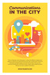 Vector creative colorful illustration of modern city growing out