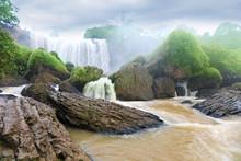 Elephant Waterfall In Central Highlands. Dalat, Vietnam