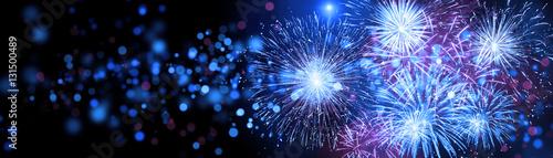 Leinwand Poster Silvester Feuerwerk