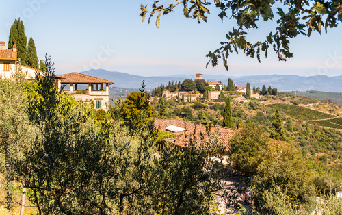 Foto  Landscape in Chianti region the heart of the Tuscan Countryside