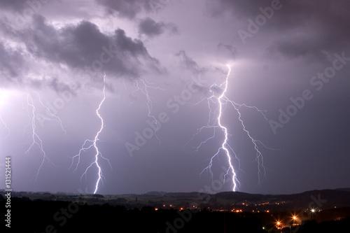 Printed kitchen splashbacks Storm lightning, storm