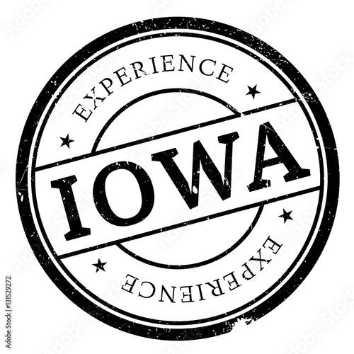 Photo  Iowa stamp rubber grunge