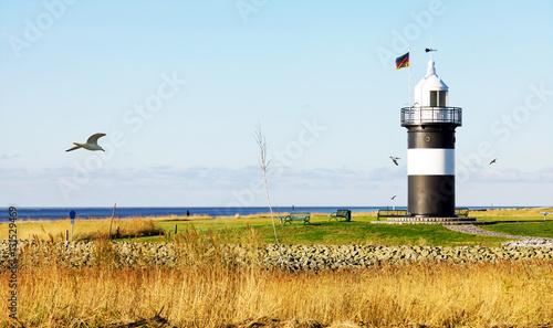 Foto op Aluminium Vuurtoren Leuchtturm in Wremen