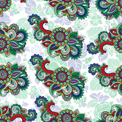 Seamless repeating floral pattern.Vector