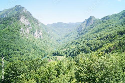 Foto op Canvas Olijf Beautiful mountain landscape