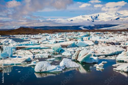 Foto op Aluminium Poolcirkel Drift ice Ice Lagoon - Jokulsarlon