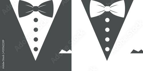 Fotografie, Obraz  Icono plano smoking gris y blanco