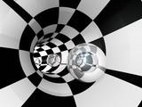 Fototapeta Do przedpokoju - Tunnel Checker Sphere Glass