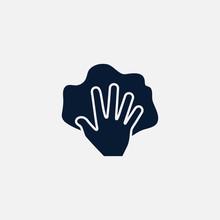 Hand With Rag Icon Simple Illu...