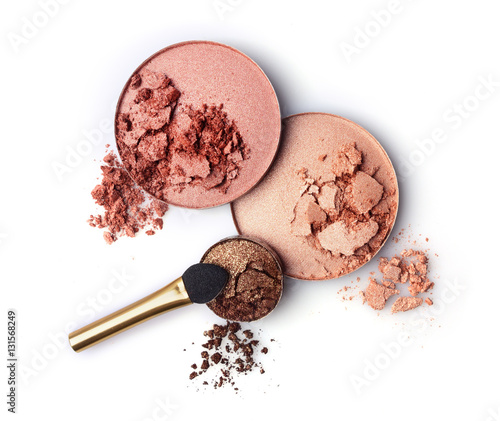 Fotografia, Obraz Crushed blush and eyeshadow