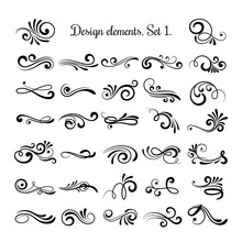 Swirly Line Curl Patterns Isol...
