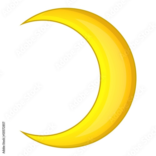 crescent moon icon cartoon illustration of crescent moon vector icon for web design buy this stock vector and explore similar vectors at adobe stock adobe stock crescent moon vector icon