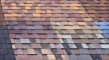 Multi-colored Bitumen Shingles A Sample Of The Product Advertising