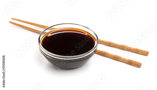 Isolated Soy sauce on white background, with clipping path