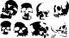 Black Skull Stamps