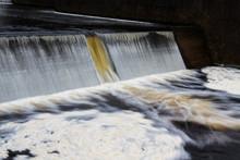 Water Cascading Over Weir,  Avon Dam, Dartmoor