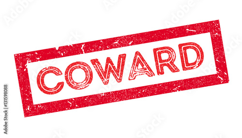 Coward rubber stamp Canvas Print
