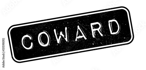 Photo Coward rubber stamp