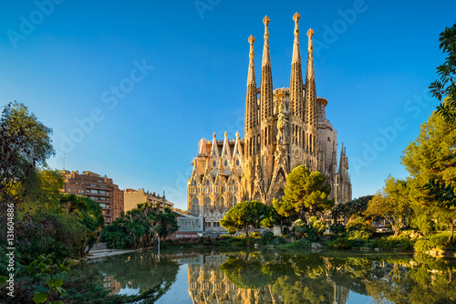 Photo Stands Barcelona Sagrada Familia in Barcelona, Spain