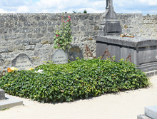 Graves Of The Famous Dutch Painter Vincent Van Gogh (1853-1890) And His Brother, The Art Dealer Theodore Van Gogh (1857-1891) In Auvers-sur-Oise, Near Paris