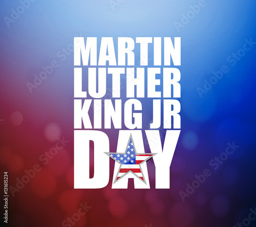Martin Luther King JR day sign Wallpaper Mural