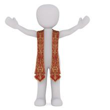 3D Figure Of Spiritual Leader ...