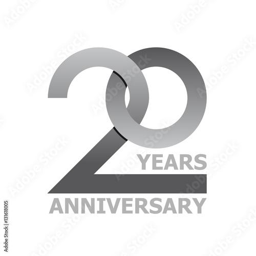 Photo  20 years anniversary symbol vector
