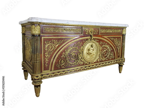 Fotografia, Obraz  A Fine Louis XVI Style Gilt-Bronze Mounted Commode, Model By Ben