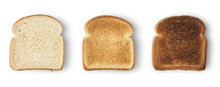 Set Of Three Slices Toast Brea...