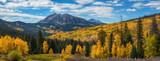 Kebler Pass Panorama in autumn