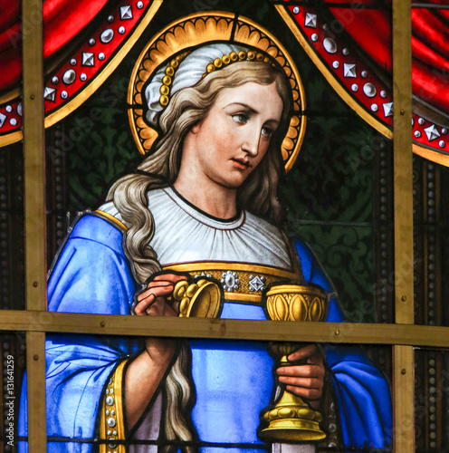 Stained Glass - Mary Magdalene Canvas Print