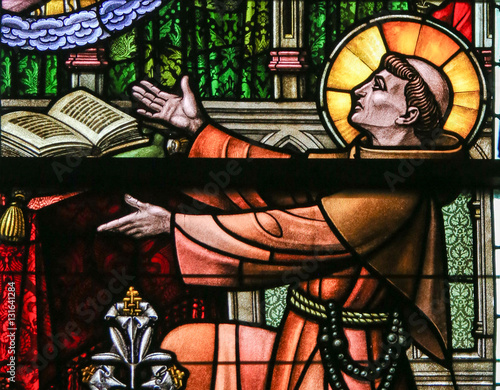 Stained Glass - Saint Anthony of Padua Canvas Print