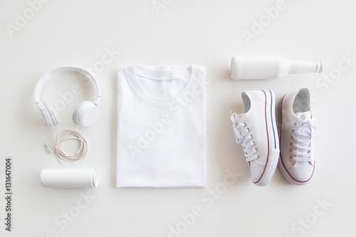 Fotografie, Obraz  Blank stuff on white background