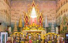 Luang Por Phra Sai Buddha State At Wat Pho Chai Church In Nong Khai,thailand