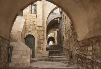 Fototapeta Izrael - Jerozolima - Stare przejście ukryte w mieście