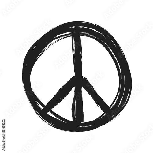 Fotografie, Tablou  grunge peace symbol