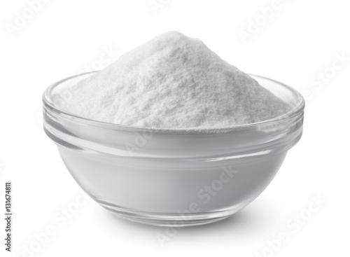 Fotografía  Glass bowl of baking soda