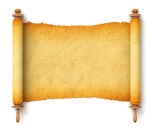 Torah Unfurled With Wooden Handles