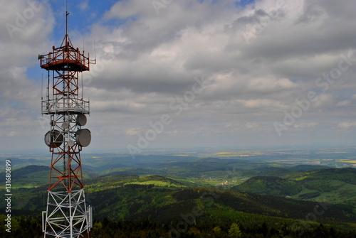 Fotografia  Maszt antenowy na Wielkiej Sowie