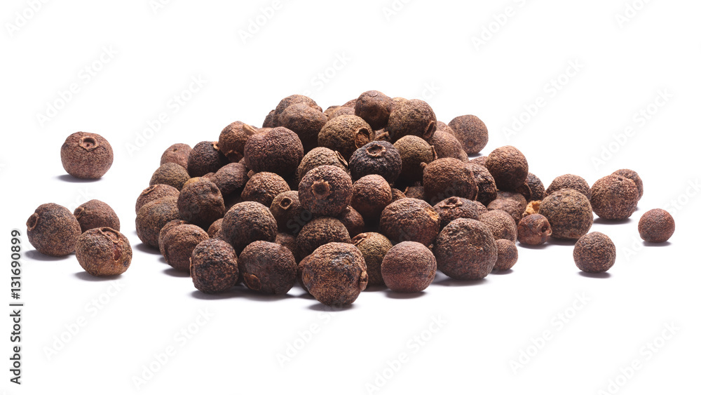 Fototapety, obrazy: Pile of allspice-Pimenta dioica fruits, paths