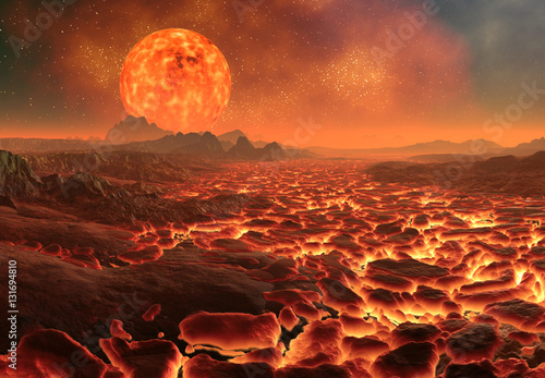Fototapety Fantasy 3d-created-and-rendered-fantasy-alien-planet-illustration