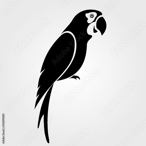 Fényképezés Parrot icon isolated on white background.