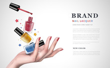 Colorful Nail Lacquer Ad