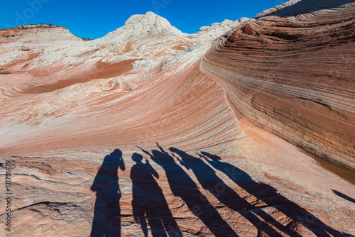 Foto op Aluminium Zalm Landscape of Rock Desert, White Pocket in Arizona