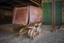 Old Rusty Mining Ore Cart