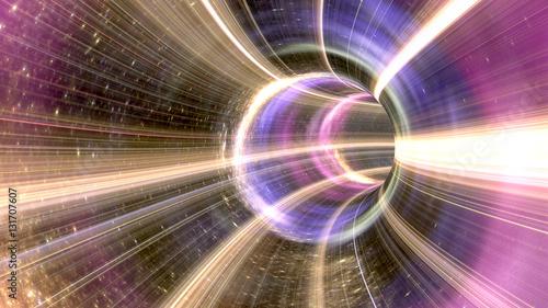 Grafika trójwymiarowa Tunel kosmiczny Wormhole