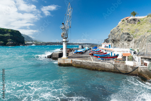 Hafen und Meer bei San Marcos, Icod de los Vinos, Teneriffa, Spanien,